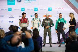 Nelson Piquet Jr., Jaguar Racing in the press conference with Lucas di Grassi, Audi Sport ABT Schaef