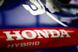 Honda branding on the Toro Rosso STR13 Honda engine cover