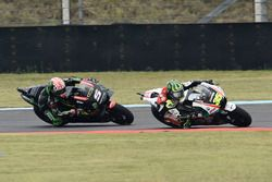 Crutchlow overtaking Johann Zarco, Monster Yamaha Tech 3