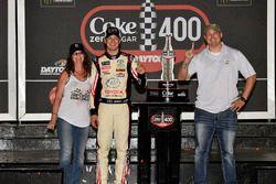 Erik Jones, Joe Gibbs Racing, Toyota Camry buyatoyota.com Celebrates his win