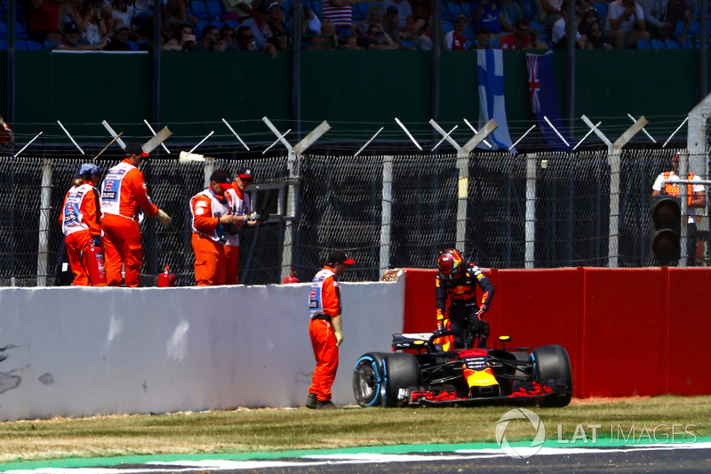 Max Verstappen, Red Bull Racing RB après son accident