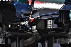 Détails de l'arrière de la Mercedes-AMG F1 W09