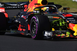 Daniel Ricciardo, Red Bull Racing RB14 with aero paint on front suspension