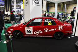 An Alfa Romeo 155 BTCC car on display