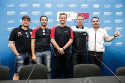 Press Conference, Rob Huff, All-Inkl Motorsport, Citroën C-Elysée WTCC, Mehdi Bennani, Sébastien Loe