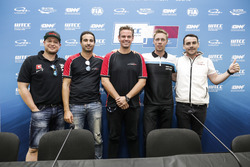 Press Conference, Rob Huff, All-Inkl Motorsport, Citroën C-Elysée WTCC, Mehdi Bennani, Sébastien Loe