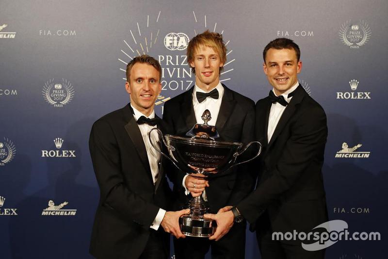 Brandon Hartley avec Timo Bernhardt et Earl Bamber