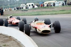 Graham Hill, Lotus 49B-Ford, Chris Amon, Ferrari 312