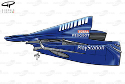 Prost AP02 1999 rear bodywork