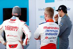 Neel Jani, Dragon Racing , Felix Rosenqvist, Mahindra Racing, and Nelson Piquet Jr., Jaguar Racing
