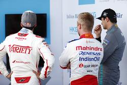 Neel Jani, Dragon Racing , Felix Rosenqvist, Mahindra Racing, e Nelson Piquet Jr., Jaguar Racing