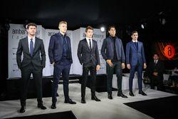 Norman Nato, Sergey Sirotkin, Renault Sport F1 Team, Charles Leclerc, Sauber, Sean Gelael, Scuderia Toro Rosso et Alfonso Celis Jr. at Amber Lounge Fasion Show