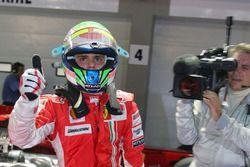 Pole sitter Felipe Massa, Ferrari F2008