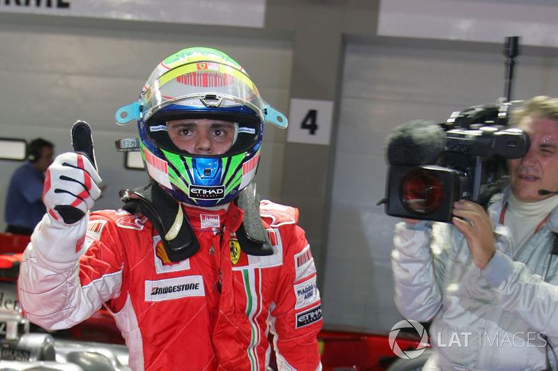 Le poleman Felipe Massa, Ferrari F2008