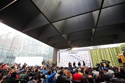Sergio Perez, Sahara Force India F1 with team mate Nico Hulkenberg, Sahara Force India F1