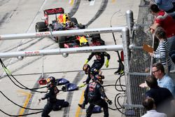 Red Bull no estaba listo para el pit stop de Max Verstappen, Red Bull Racing RB12