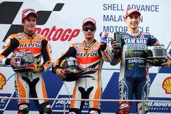 Podium: 1. Dani Pedrosa, Repsol Honda; 2. Marc Marquez; 3. Jorge Lorenzo, Yamaha