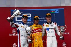 Race winner Antonio Giovinazzi, PREMA Racing, Second place Sergey Sirotkin, ART Grand Prix & Third p