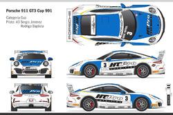 Carro de Sergio Jimenez e Rodrigo Baptista na Porsche em Interlagos