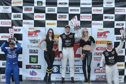 GT podium: Michael Cooper, Cadillac Racing, second place Ryan Eversley, RealTime Racing, Johnny O'Co