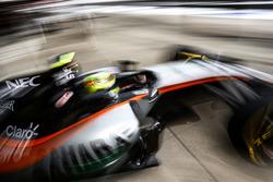 Sergio Pérez, Sahara Force India F1 VJM09 deja los pits