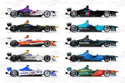 Formula E'nin üçüncü sezonunda yer alan araçlar