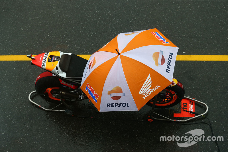 Bike of Marc Marquez, Repsol Honda Team in pitlane