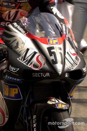 La moto de Régis Laconi, MS Aprilia Racing