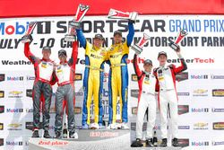 GTD podium: winners #96 Turner Motorsport BMW M6 GT3: Bret Curtis, Jens Klingmann, second place #6 S