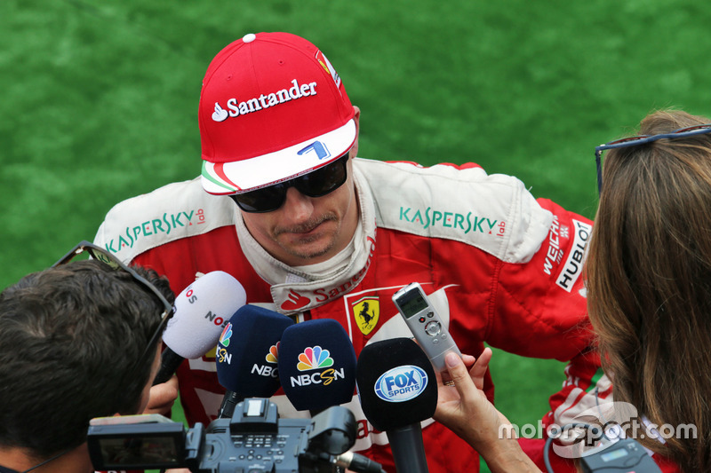Kimi Raikkonen, Ferrari con i media