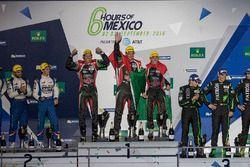 Podio LPM2: Ganador de la carrera Ricardo González, Filipe Albuquerque, Bruno Senna RGR Sport by Mor