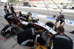 Sergio Perez, Sahara Force India F1 VJM09, avec le Halo