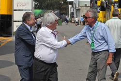 FIA-Präsident Jean Todt mit Bernie Ecclestone und Cesare Fiorio