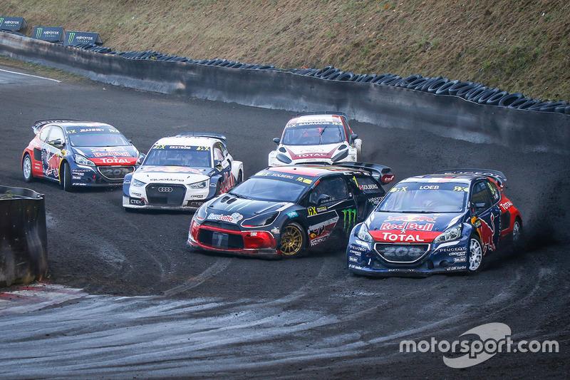 Sébastien Loeb, Team Peugeot Hansen, Mattias Ekström, EKS RX Audi S1, Petter Solberg, PSRX Citroën DS3 RX