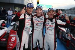 Race winners #6 Toyota Racing Toyota TS050 Hybrid: Stéphane Sarrazin, Mike Conway, Kamui Kobayashi