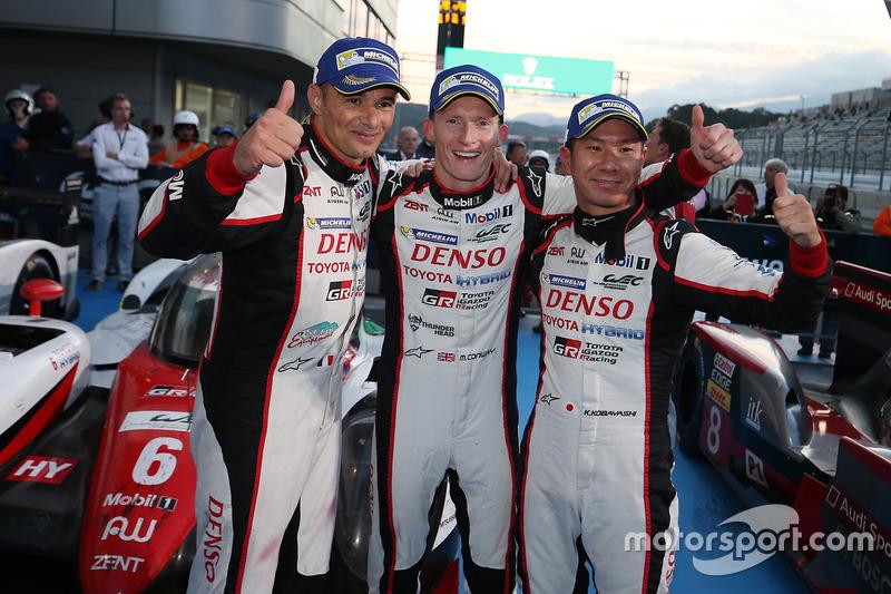 Winnaars #6 Toyota Racing Toyota TS050 Hybrid: Stéphane Sarrazin, Mike Conway, Kamui Kobayashi