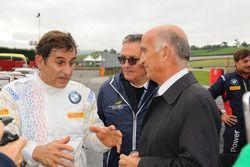 Alex Zanardi, BMW Team Italia, con Giancarlo Minardi e Angelo Sticchi Damiani, Presidente ACI-CSAI