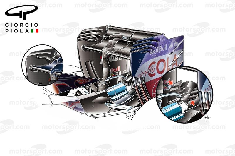 L'aileron arrière et le monkey seat de la Toro Rosso STR11