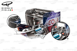 Toro Rosso STR11 rear wing and monkey seat