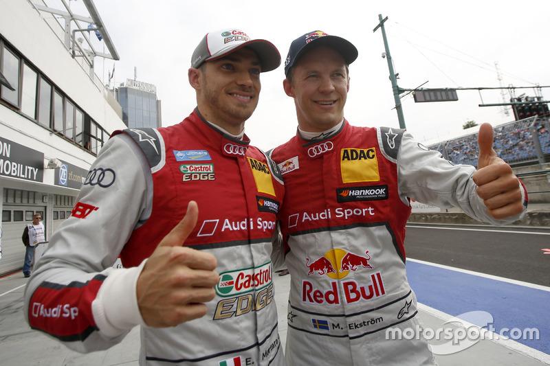 Edoardo Mortara e Mattias Ekström venceram as provas do DTM em Budapeste. Marco Wittmann é o líder, faltando apenas uma etapa.