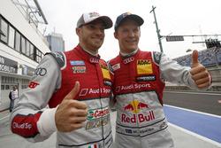 Top 2 des qualifications, Edoardo Mortara, Audi Sport Team Abt Sportsline, Audi RS 5 DTM et Mattias Ekström, Audi Sport Team Abt Sportsline, Audi A5 DTM