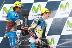 Podium: second place Alex Marquez, Marc VDS, third place Franco Morbidelli, Marc VDS