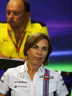 Claire Williams, Subdirector de equipo Williams en la Conferencia de prensa FIA