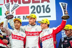 Podium: winners #46 Thiriet by TDS Racing Oreca 05 - Nissan: Pierre Thiriet, Mathias Beche, Ryo Hirakama