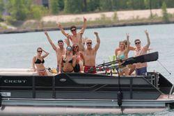 Szurkolók a hajón