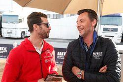 José María López, Citroën World Touring Car Team et François Ribeiro, Eurosport Motorsport Director
