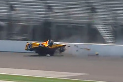 Spencer Pigot, Rahal Letterman Lanigan Racing Honda in a huge crash