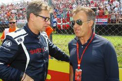 Bernd Maylander, FIA Safety Car Driver with Jean Alesi, on the grid