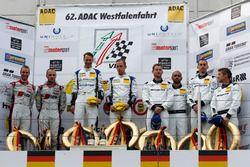 Podium: 2. #15 Audi Sport Team Phoenix, Audi R8 LMS: Christopher Haase, Laurens Vanthoor; 1. #5 Phoe