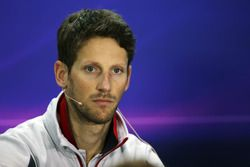 Ромен Грожан, Haas F1 Team на пресс-конференции FIA